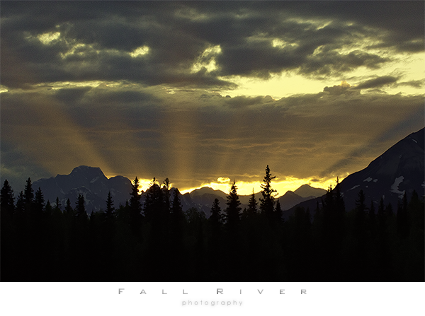 Sunsetting behind Denali from Lake Byers, Alaska